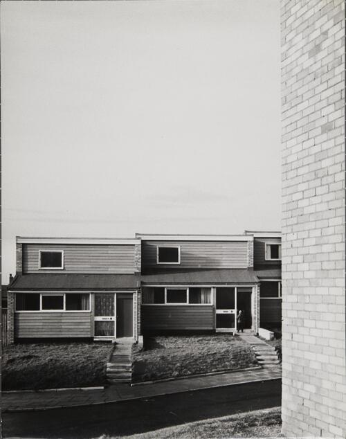[East Kilbride, Westwood IX, Row of houses facing the street]