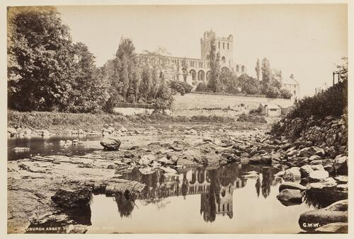 Jedburgh Abbey, from the River.