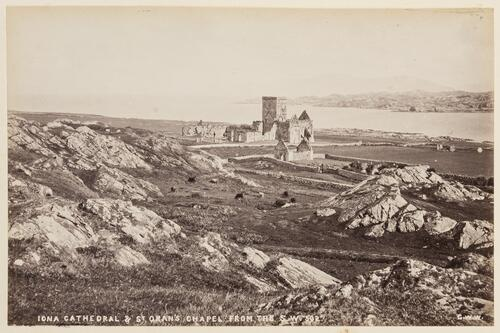 Iona Cathedral and St Oran's Church from South West