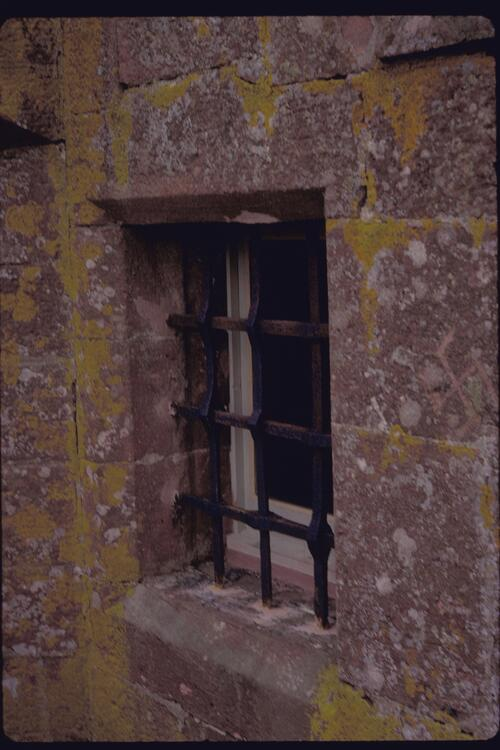 Window, Inverquharity Castle.