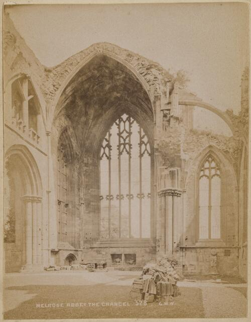 Melrose Abbey, the Chancel