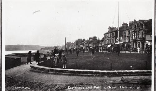 Esplanade and Putting Green, Helensburgh.