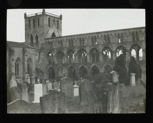 Jedburgh Abbey from North West.