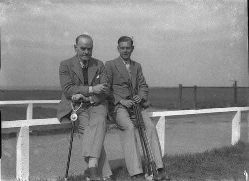 Hector Thomson, on the Old Course, St Andrews for the Amateur Golf Championship.