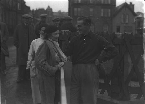 ?Hector Thomson on the Old Course, St Andrews during the Amateur Golf Championship