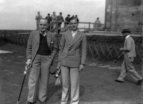 Hector Thomson on the Old Course, St Andrews during the Amateur Golf Championship