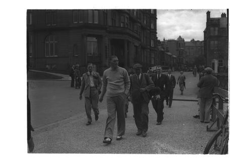 ?Hector Thomson walking to the Old Course, St Andrews during the Amateur Golf Championship