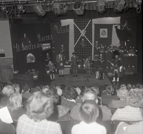 The pipers, the St Andrews Burns Club Concert in the Byre Theatre, St Andrews.