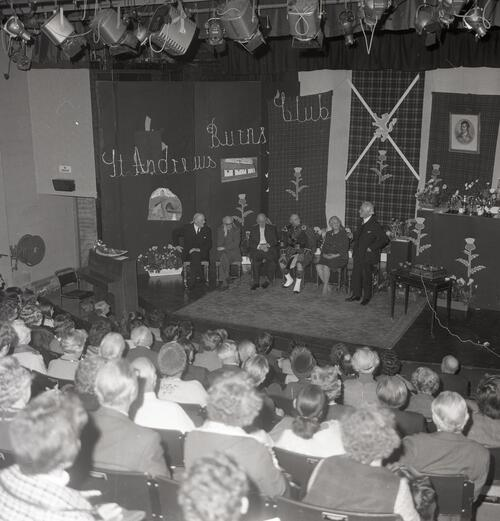 The St Andrews Burns Club Concert in the Byre Theatre, St Andrews.