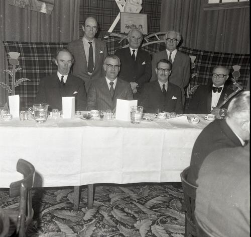 The top table at the St Andrews Burns Club Supper, at McArthur's Cafe.