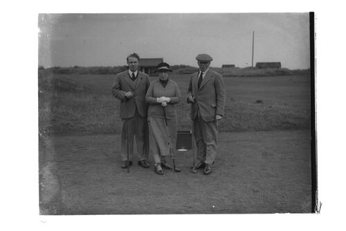 HRH Princess Victoria and companions, the Old Course, St Andrews.