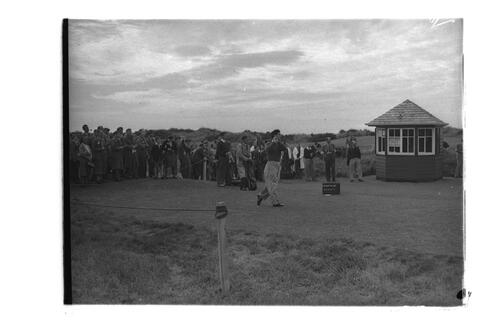 N Von Nida, Adams, Shankland and Rees, 1st Tee, the New Course, St Andrews.
