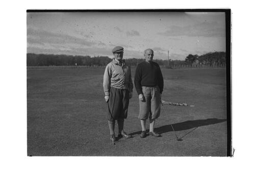 Lord Wavell and golfer, St Andrews.