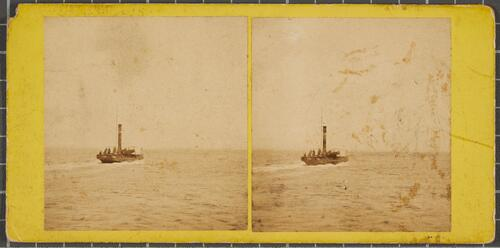 View from Ryde Pier, Isle of Wight - The Steamer from Portsmouth (Instantaneous)