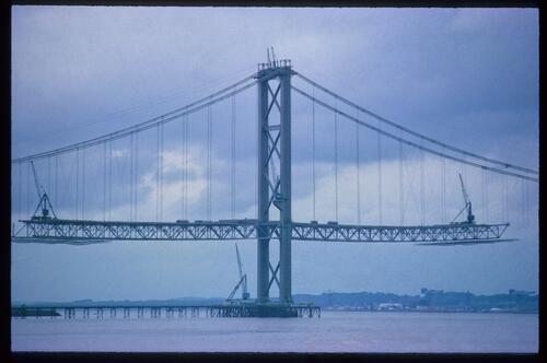 [Forth Road Bridge construction]