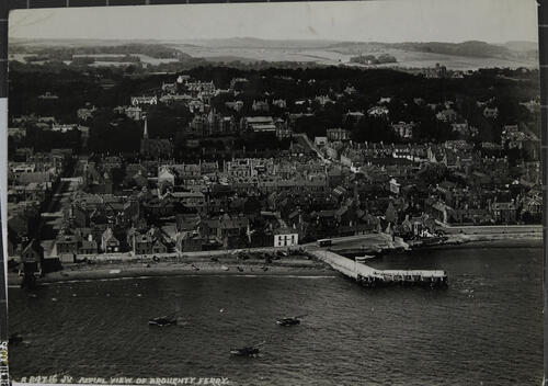 Aerial view of Broughty Ferry.
