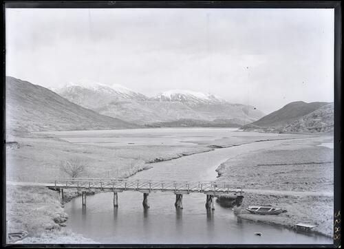 Kinlochquoich Bridge with Loch Quoich in distance.