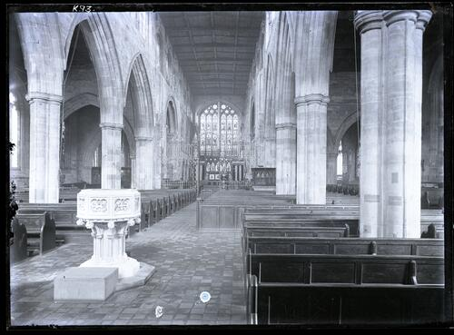 Interior of St Editha's Church, Tamworth.