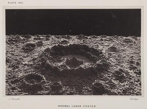 Normal lunar crater.