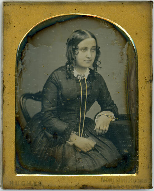 [Portrait of unidentified young woman]