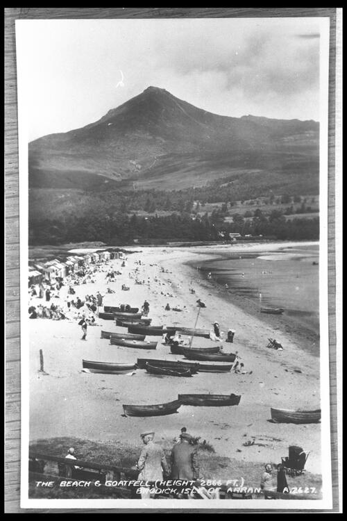 The Beach & Goatfell, Arran.