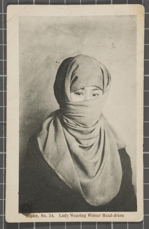 Lady Wearing Winter Head-dress