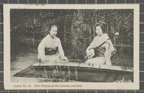 Girls Playing on the Samisen and Koto