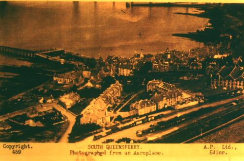 South Queensferry from the air.