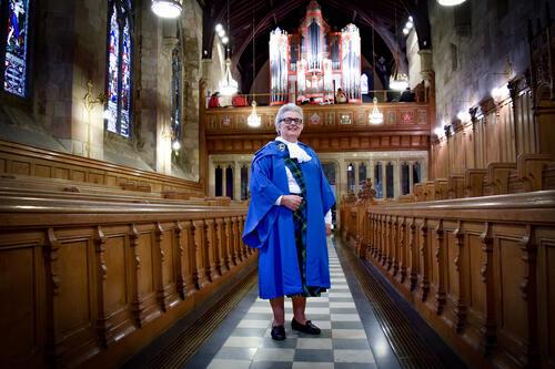 University of St Andrews Graduate in St Salvator's Chapel