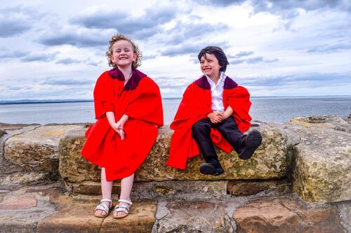 Graduates of the University of St Andrews' Nursery celebrating