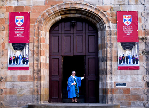 University of St Andrews Graduate in St Salvator's Quadrangle