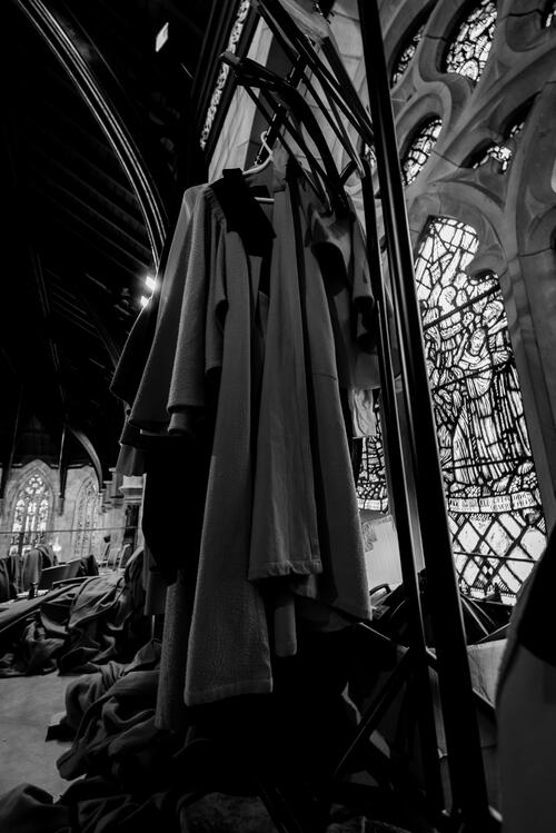 Behind the scences in Chapel during Graduation week at the University of St Andrews