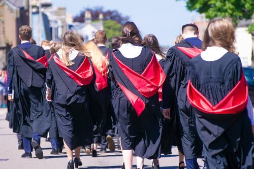Graduates processing after Graduation from the University of St Andrews