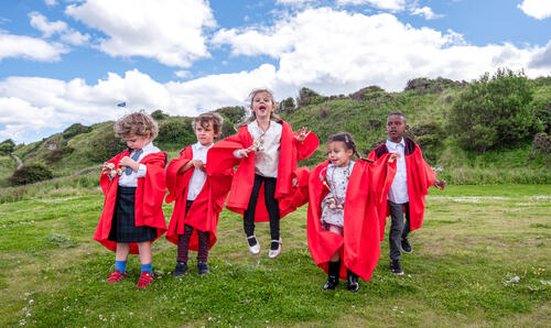 Fresh 'graduates' from the University of St Andrews Nursery