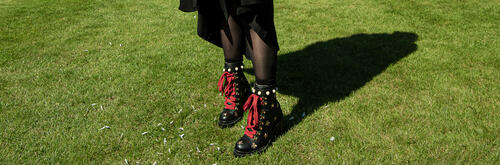 Quirky footwear on show at the University of St Andrews Graduation Day