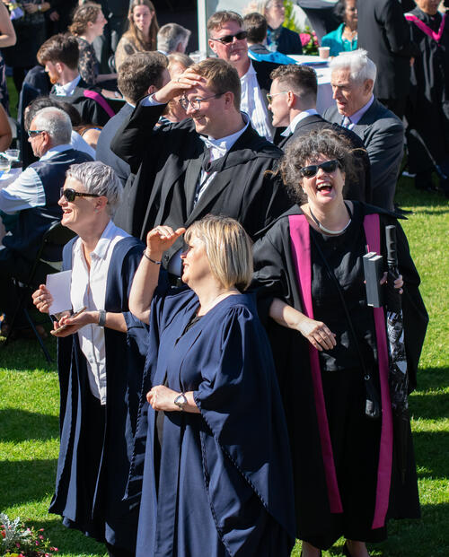 Staff of the University of St Andrews on Graduation Day