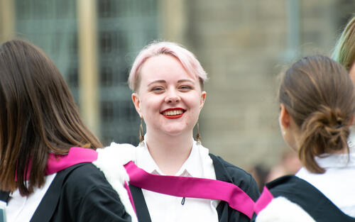 Smiling Graduate on University of St Andrews' Graduation Day