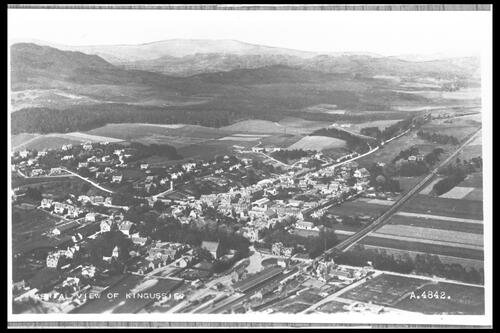 Aerial view of Kingussie.