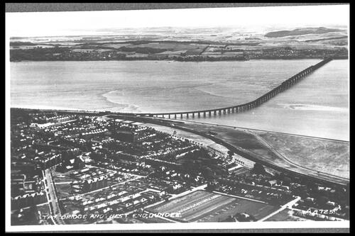 Tay Bridge and West End, Dundee.