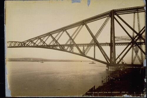 Forth Bridge, south span from Inchgarvie.
