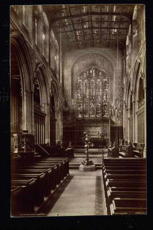Chancel, St Margaret's Church, [Westminster].