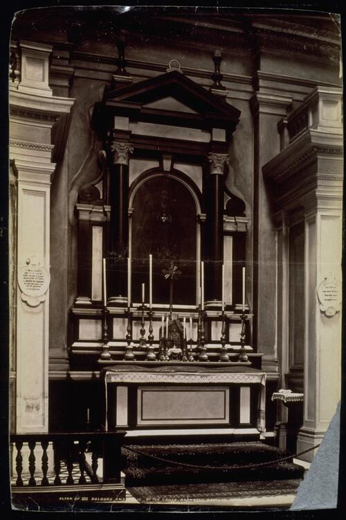 Altar of VII Dolours and Relic, Brompton Oratory.