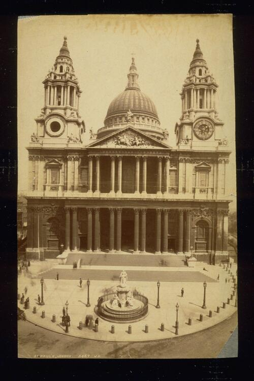 St Paul's [Cathedral], London.