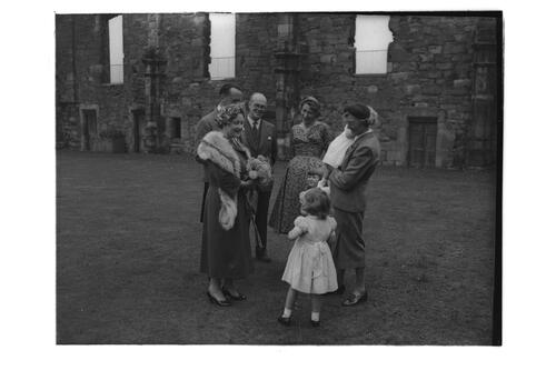 Queen Mother at Falkland Palace.