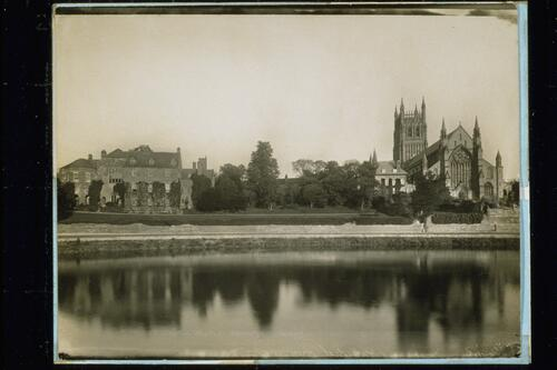 Worcester Cathedral and Deanery.