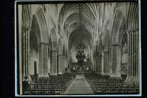 Nave east, Exeter Cathedral.