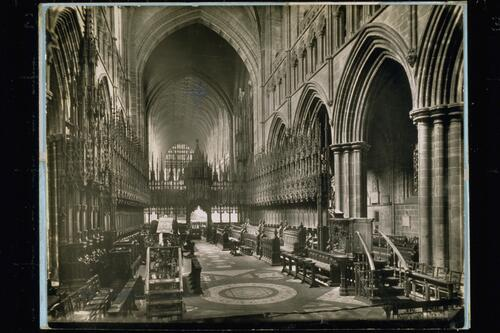 Choir east, Chester Cathedral.