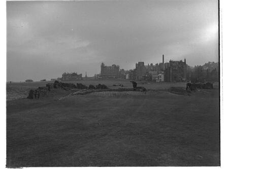 Turfing, Old Course, St Andrews.