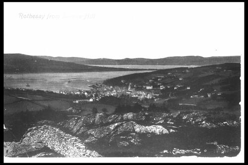 Rothesay from Barone Hill.