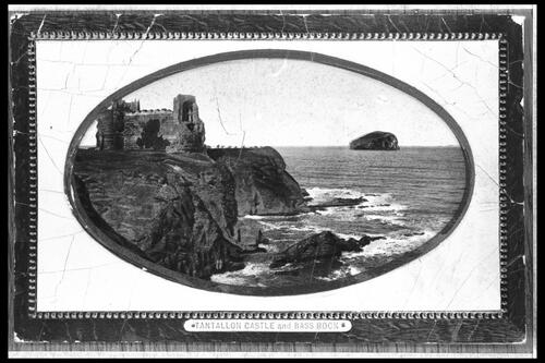 Tantallon Castle and Bass Rock.